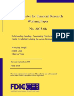 Relationship Lending, Accounting Disclosure, And Credit Availability During the Asian Financial Crisis
