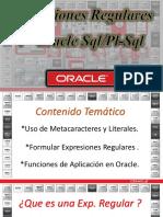 Oracle Regular Expressions / Expresiones Regulares en el DBMS  de Oracle