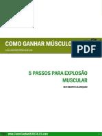 5 Passos Para a Explosão Muscular