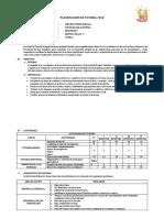 Planificación de Tutoria 2018 Jchd