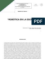 Memoria de Trabajo Robotica
