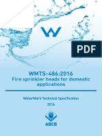 WMTS 486 2016 Fire Sprinkler Heads for Domestic Applications