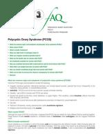 Polycystic Ovary Syndrome FQA