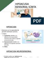 HIPOACUSIA NEUROSENSORIAL SÚBITA