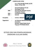 Deteksi Dini Dan Penatalaksanaan Gbs - Pdui, 28-01-2018