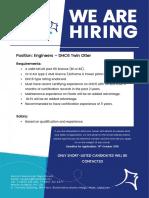 Mta Job 2018 21 Engineers Dhc6