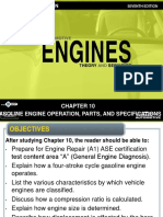 Gasoline Engine Operation, Parts, And Specifications