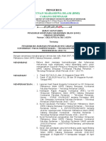 SK Pengurus HMI Cabang Denpasar Tentang Susunan Pengurus Komisariat FP-TP Unud