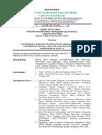 SK Pengurus HMI Cabang Denpasar Tentang Susunan Pengurus Komisariat TMKP Unud