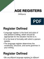 Language Registers 2