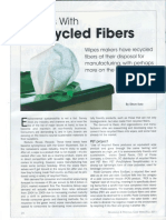 Wipes With Recycled Fibers Household and Personal Care Wipes Magazine Article Fall 2011