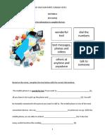 ENGLISH Mid-year-exam  2018 Year 5 Paper 2