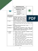 8.2.5.1 Sop Identifikasi Dan Pelaporan Kesalahan Pemberian Obat