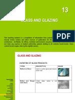 13 Glass and Glazing
