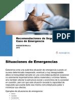 Recomendaciones en Caso de Emergencia Salas