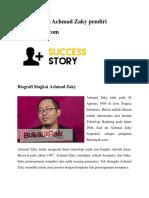 Kisah Sukses Achmad Zaky pendiri BukaLapak.docx