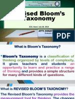 Bloom's Taxonomy - My Presentation