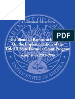 Biennial Report to Congress on the Implementation of the Title III State Formula Grant Program 2012-14