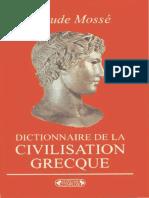 Dictionnaire de La Civilisation Grecque (Claude Mossé)