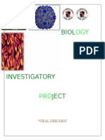 Dlscrib.com Biology Investigatory Project Viral Diseases
