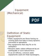 Static Equipment (Mechanical)