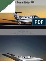 Citation CJ1 Spec-Sheet (Latitude 33 Jets)