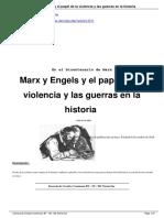 Pastor, Jaime. Marx y Engels. El Papel de La Violencia y Las Guerras en La Historia