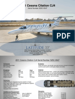 Citation CJ4 Spec-Sheet (Latitude 33 Jets)
