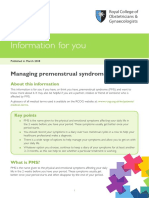 Managing Premenstrual Syndrome Pms