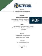 Plan de Mercadotecnia de Empresa Constructora