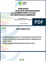 Kebijakan Perencanaan PNBP 2019 Rorengar