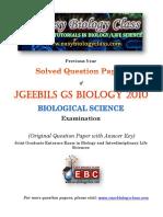 GS Biology 2010 Biology Question Paper