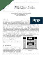 IoT-based Efficient Tamper Detection Mechanism for Healthcare Application