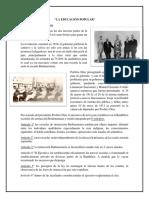 Resumen de La Educación Popular-ed