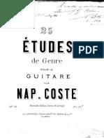 [Método] Napoleon Coste - 25 Études pour la Guitare, Op. 38