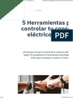 5 Herramientas Controlar Consumo Eléctrico en Casa - Dando luz ⚡