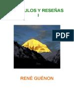 R. Guénon - Recopilación - Artículos y reseñas (1).pdf
