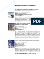 Bibliografia Gestion de Capital Intelectual. Enviado Por Gloria Valenzuela