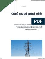 ¿Qué es el pool eléctrico y cómo funciona_ Dando luz ⚡