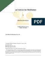 Practical Advice for Meditators