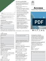 Royal Opera House Access Form