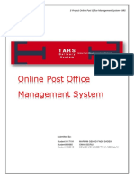 Online Post Office Management System Report