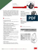 3M Prot Resp Reut - Medio Rostro Dos Vías 6500