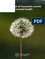 The Impact of Traumatic Events on Mental Health