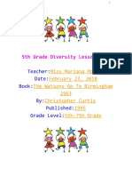 5th grade diversity lesson plan
