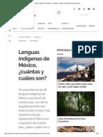 Lenguas Indígenas de México, ¿Cuántas y Cuáles Son_ _ México Desconocido