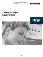 Manual Instrucciones Lavavajillas Brandt DFH13117W