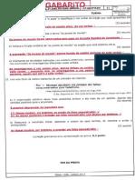 Gabarito Ae4 Língua Portuguesa 1ano