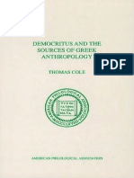 Cole, Thomas - Democritus and the Sources of Greek Anthropology.pdf