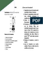 Manual de la licuadora